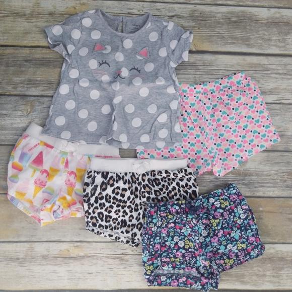 NWT Carter/'s Ice Cream Gray Girls Shorts Cotton Summer